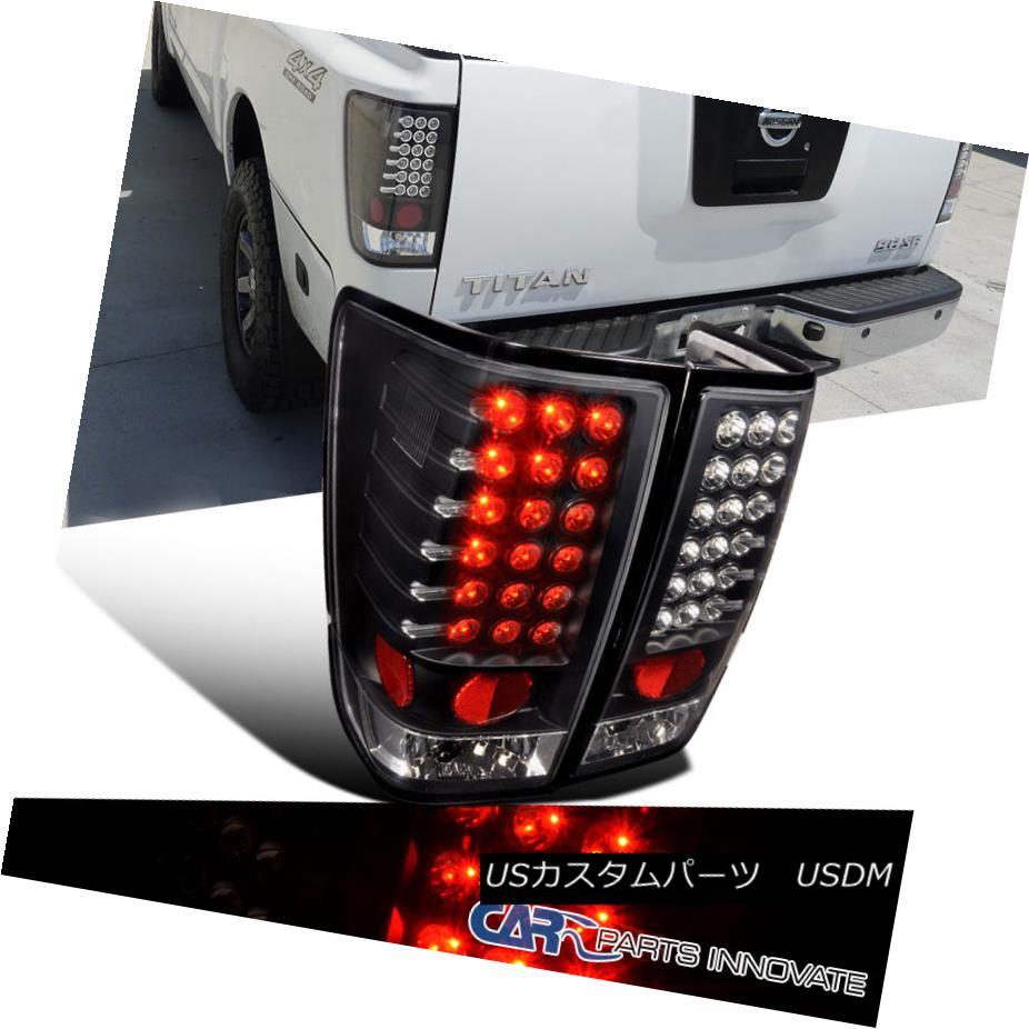 テールライト For Nissan Rear 04-13 Titan LED Tail Nissan Lights Brake Lights Stop Rear Lamp Black 日産用04-13タイタンLEDテールライトブレーキストップリアライトブラック, 霊山町:a2ca41b0 --- officewill.xsrv.jp