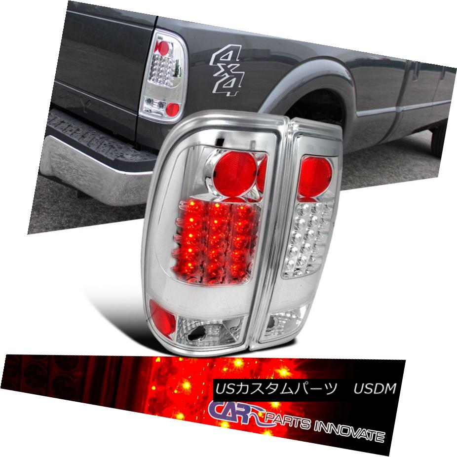 RED C-STREAK 3D LED FOR 2009-2016 FORD F350//F450 CHROME SMOKED REAR TAIL LIGHT