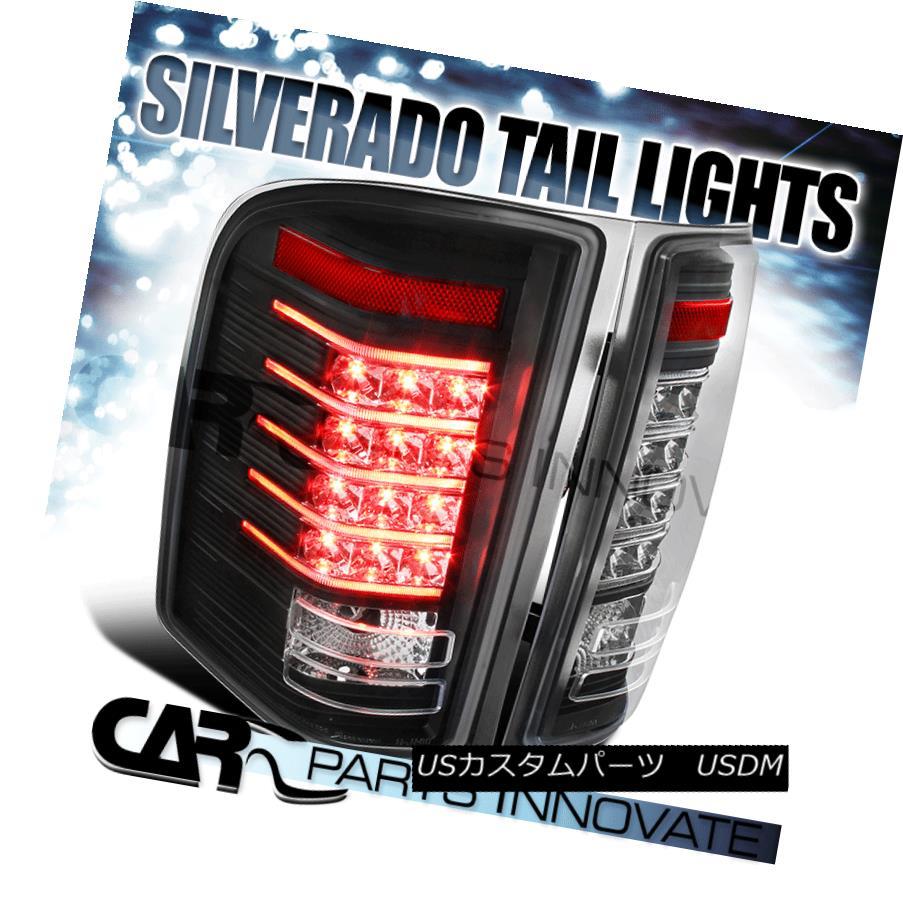テールライト 07-13 Chevy Silverado 1500 07-14 2500HD 3500HD Black LED Brake Tail Lights Lamps 07-13 Chevy Silverado 1500 07-14 2500HD 3500HDブラックLEDブレーキテールライトランプ