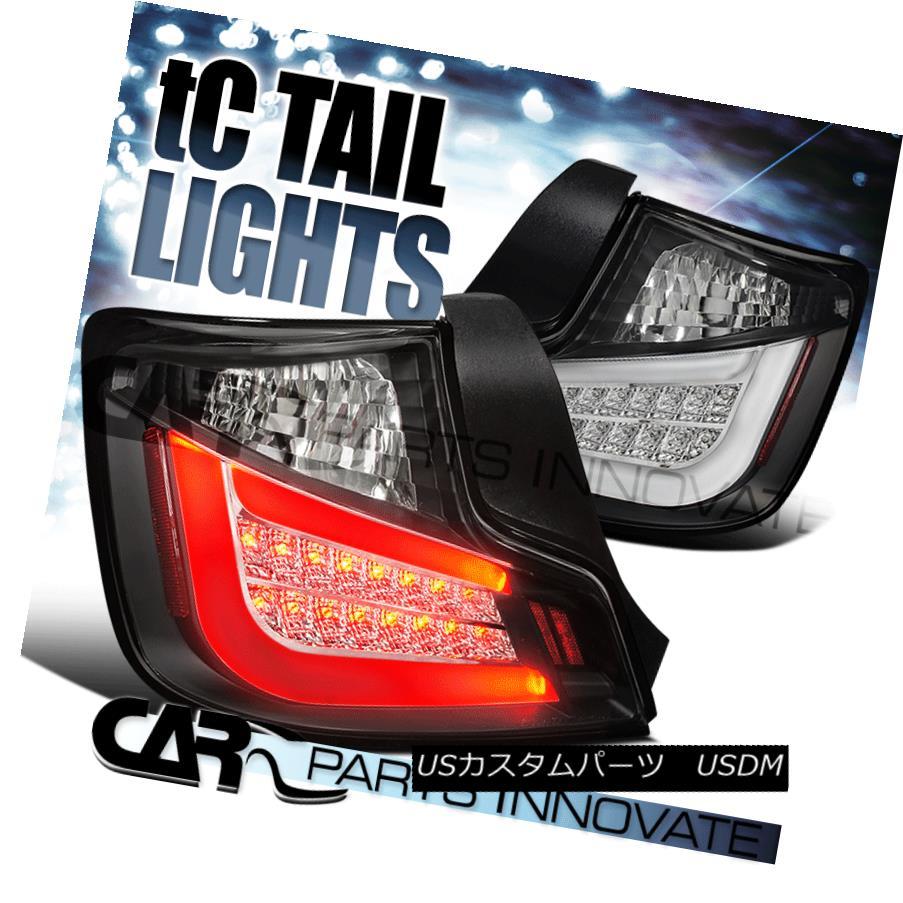 テールライト 2011-2013 Scion tC LED Light Bar Black Tail Lights Brake Lamps 2011-2013シオンtC LEDライトバーブラックテールライトブレーキランプ