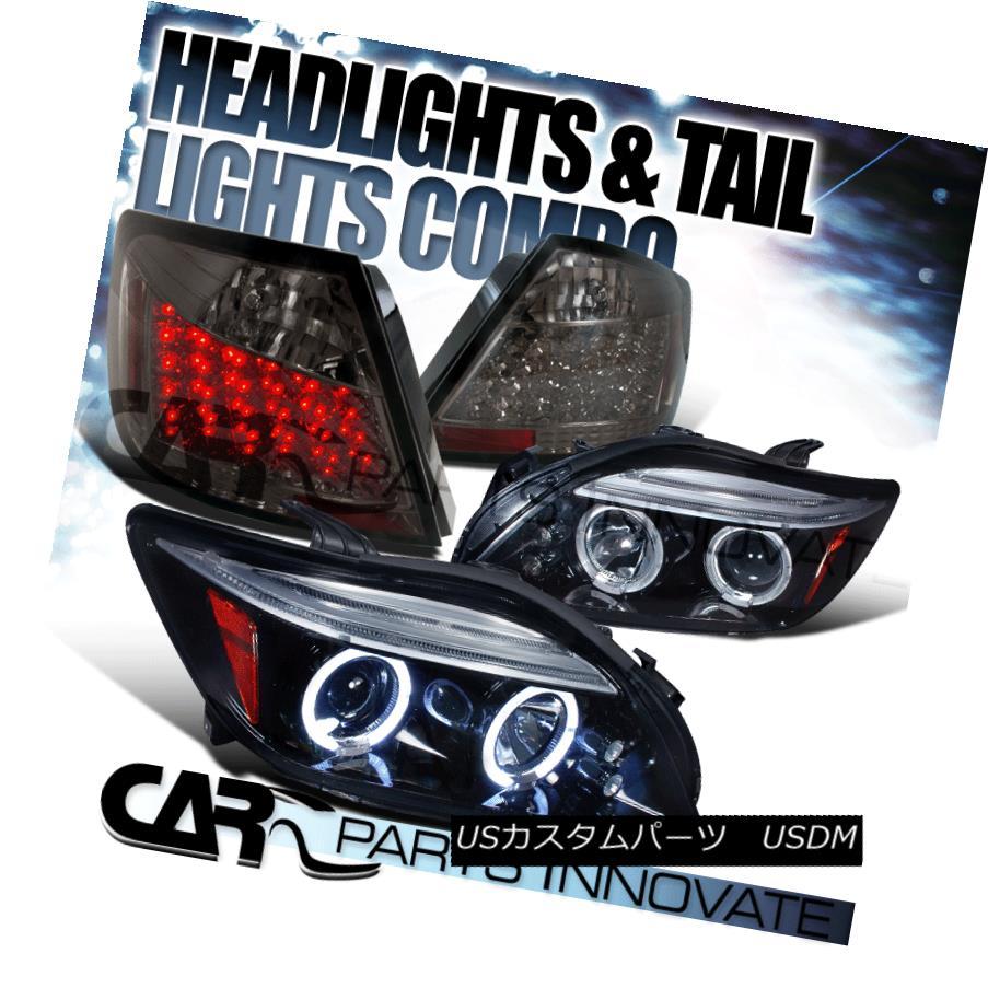 テールライト Glossy Black 05-10 Scion tC Halo LED Projector Headlights+Smoke Tail Lamp Glossy Black 05-10 Scion tC Halo LEDプロジェクターヘッドライト+ Smo keテールランプ