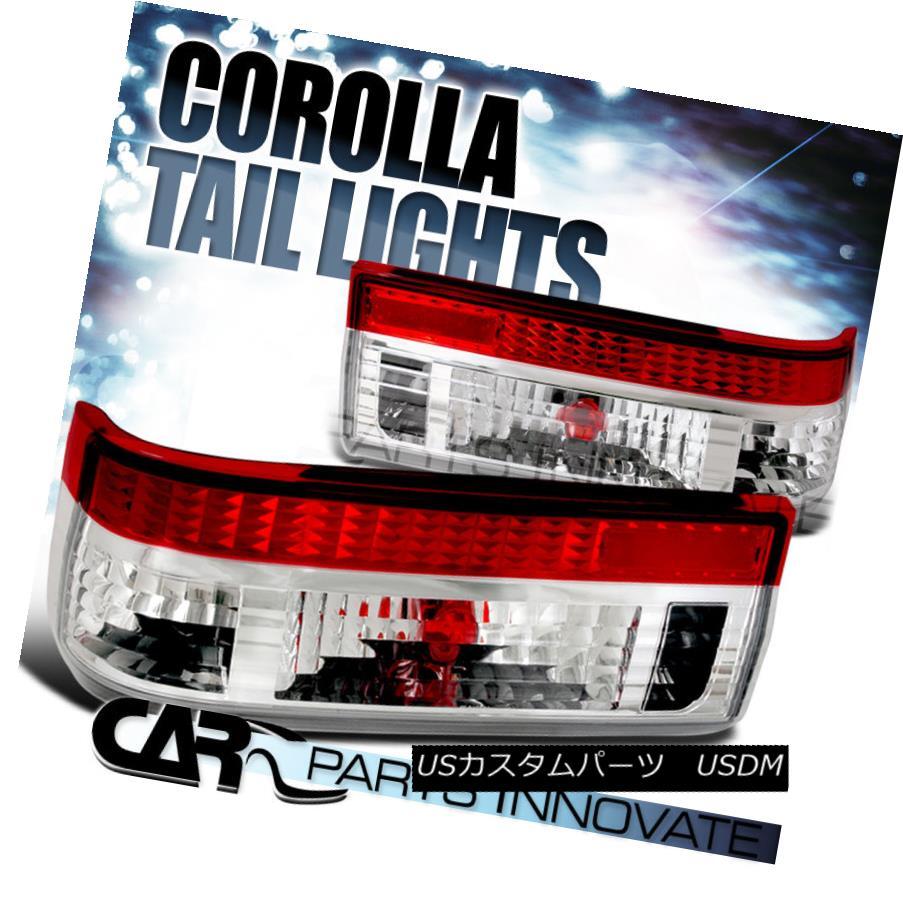 テールライト Toyota 83-87 Corolla AE86 Hatchback Tail Lights Brake Rear Lamp Red Clear トヨタ83-87カローラAE86ハッチバックテールライトブレーキリアライトレッドクリア