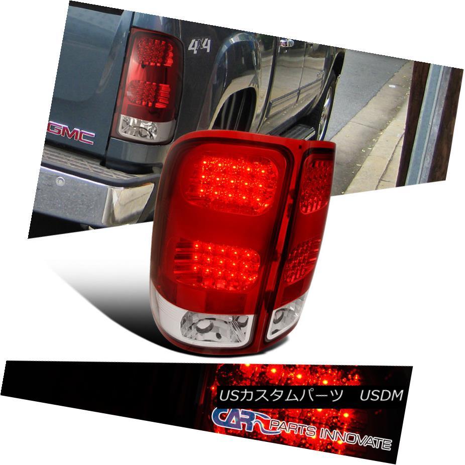 テールライト GMC 2007-2014 Sierra 1500 2500 3500 LED Tail Lights Brake Stop Rear Lamps Red GMC 2007-2014 Sierra 1500 2500 3500 LEDテールライトブレーキストップリアライト赤