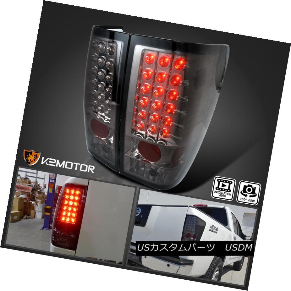 テールライト Smoke LED Brake Lamp Tail Lights Pair For 2004-2013 Nissan Titan 2004年?2013年の煙LEDランプブレーキテールライトペアNissan Titan