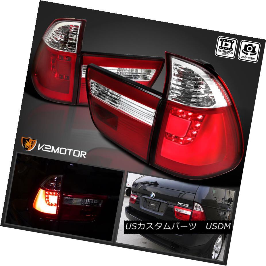 テールライト 2000-2006 BMW E53 X5 Red Lens LED Rear Brake Lamps Tail Lights Left+Right 2000-2006 BMW E53 X5レッドレンズLEDリアブレーキランプテールライト左+右