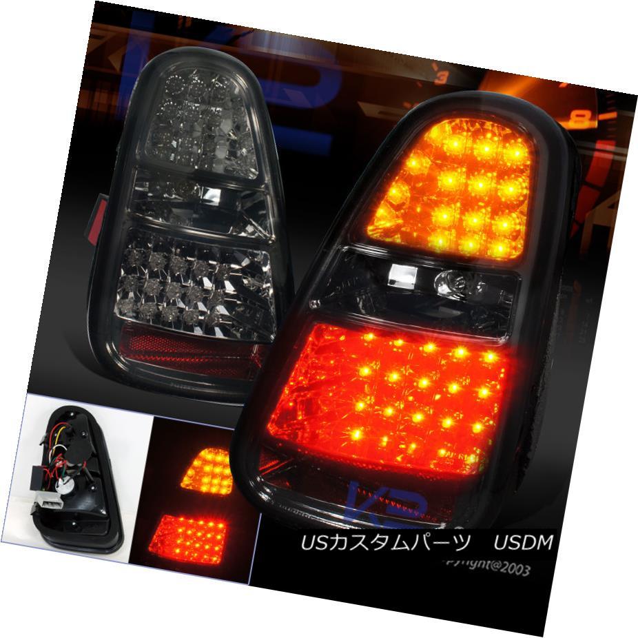 テールライト 05-06 Mini Cooper S Smoke Lens LED Turn Signal Brake Lamp Tail Lights 05-06ミニクーパーSスモークレンズLEDターンシグナルブレーキランプテールライト