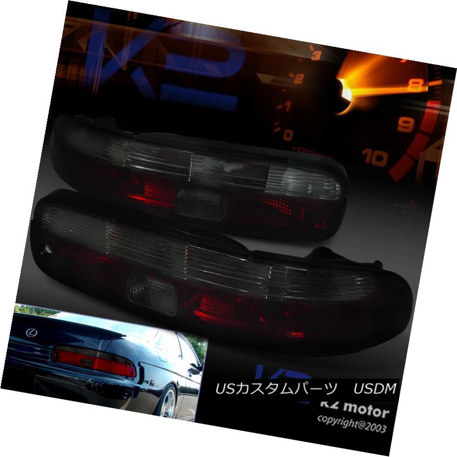 テールライト Lexus 1992-2000 SC300 SC400 Red Smoke Tint Tail Lights Rear Brake Lamps レクサス1992-2000 SC300 SC400レッドスモークティントテールライトリアブレーキランプ