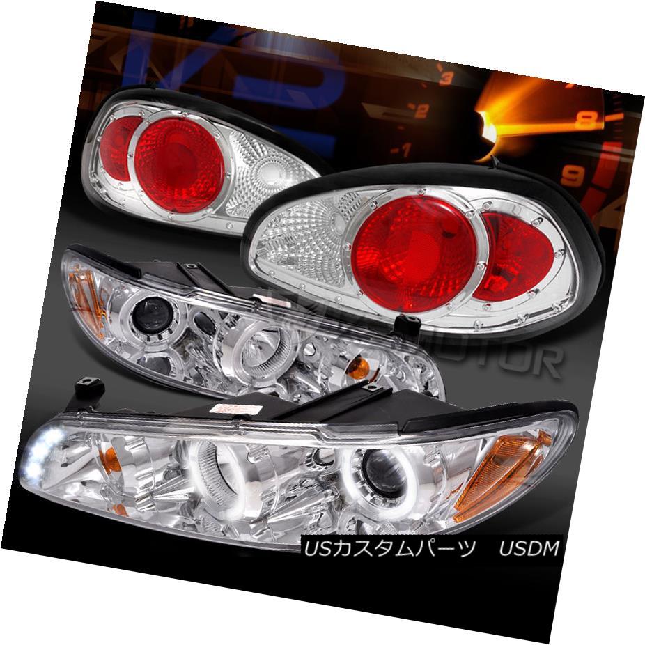 テールライト 97-03 Grand Prix Chrome Dual Halo LED Projector Headlights+Clear Tail Lamps 97-03グランプリクロームデュアルハローLEDプロジェクターヘッドライト+ Cle arテールランプ
