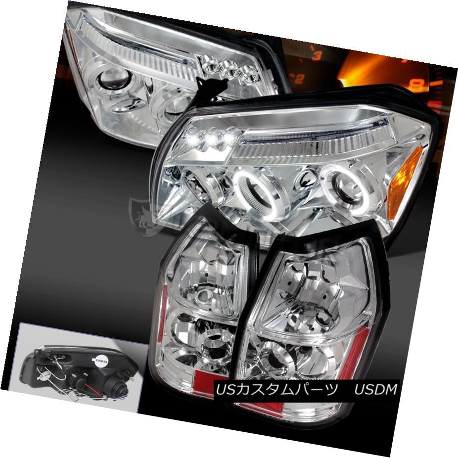 テールライト 2005-2007 Magnum Chrome/Clear Dual Halo LED Projector Headlight+Rear Tail Lamp 2005-2007マグナムクロム/クリアデュアルハローLEDプロジェクターヘッドライト+リアテールランプ