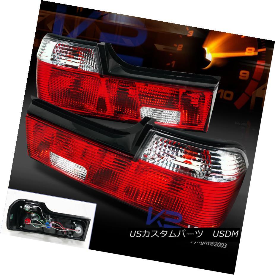 テールライト 88-94 BMW E32 735i 740i 750i Red/ Clear Tail Lights Brake Lamps Right Left 88-94 BMW E32 735i 740i 750i赤/クリアテールライトブレーキランプ右左