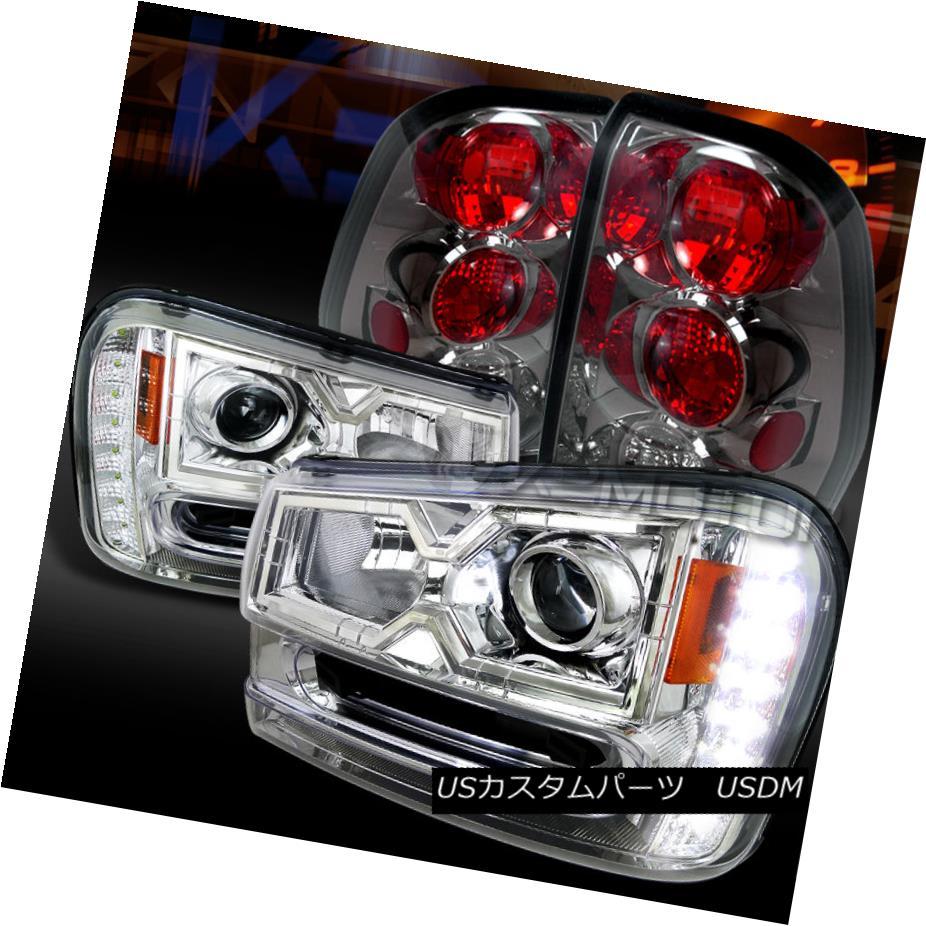 テールライト 02-09 Trailblazer Chrome SMD LED DRL Projector Headlights+Smoke Tail Lamps 02-09トレイルブレイザークロムSMD LED DRLプロジェクターヘッドライト+スモーキー keテールランプ