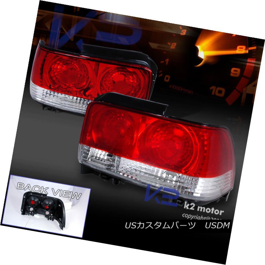 テールライト 93-97 Toyota Corolla JDM Tail Lights Rear Brake Lamp Red Clear 93-97トヨタカローラJDMテールライトリアブレーキランプレッドクリア