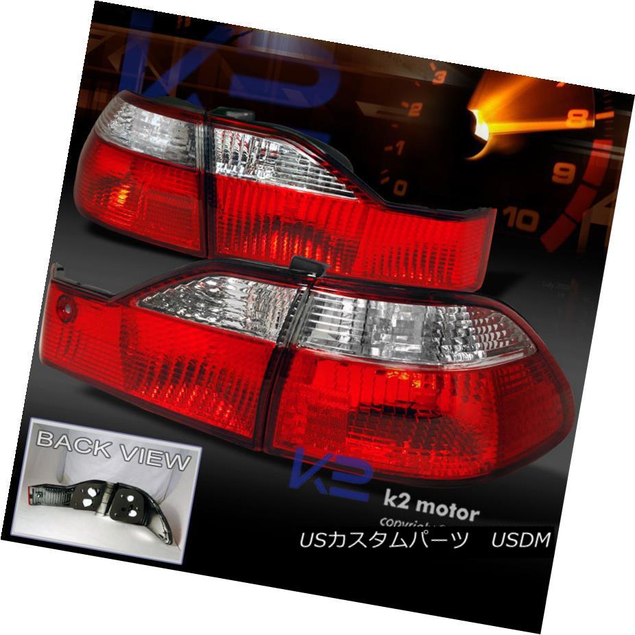テールライト For 1998-2000 Honda Accord 4D 4Dr Red/Clear Tail Lights Depo 1998-2000ホンダアコード4D 4Drレッド/クリアテールライトデポ用