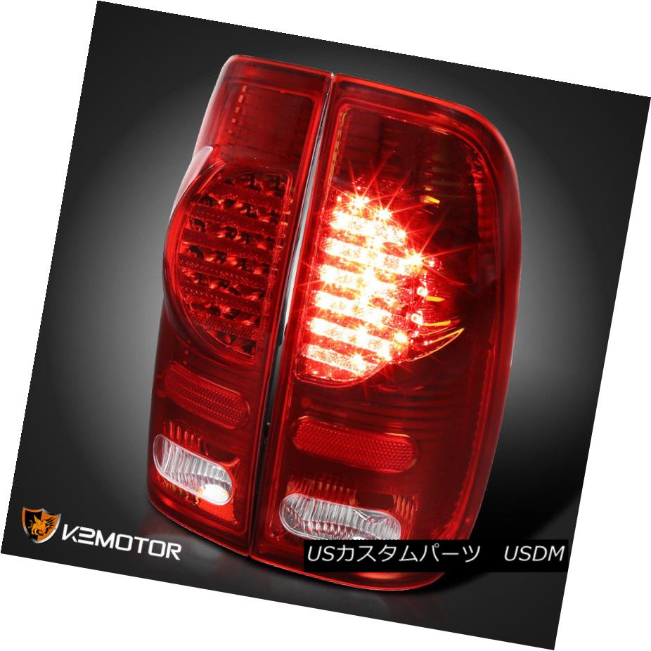 テールライト 99-07 F250/F350/F450/F550 SuperDuty Styleside Red Tinted LED Tail Brake Lights 99-07 F250 / F350 / F450 / F550 SuperDuty Styleside赤色テールLEDテールブレーキライト