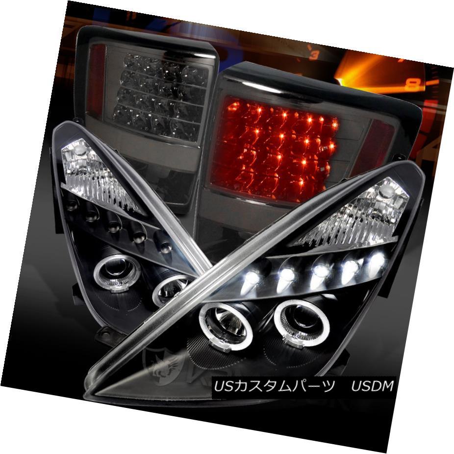 テールライト 00-05 Celica Black LED Halo Projector Headlights+Smoke LED Tail Lamps 00-05 Celica Black LED Haloプロジェクターヘッドライト+ Smo ke LEDテールランプ