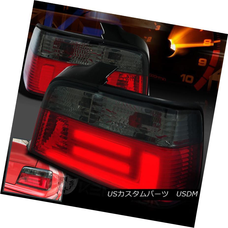 テールライト New 3D LED Light Bar 92-98 E36 3-Series 4Dr Euro Smoke Tail Lights Brake Lamps 新しい3D LEDライトバー92-98 E36 3シリーズ4Drユーロ煙テールライトブレーキランプ