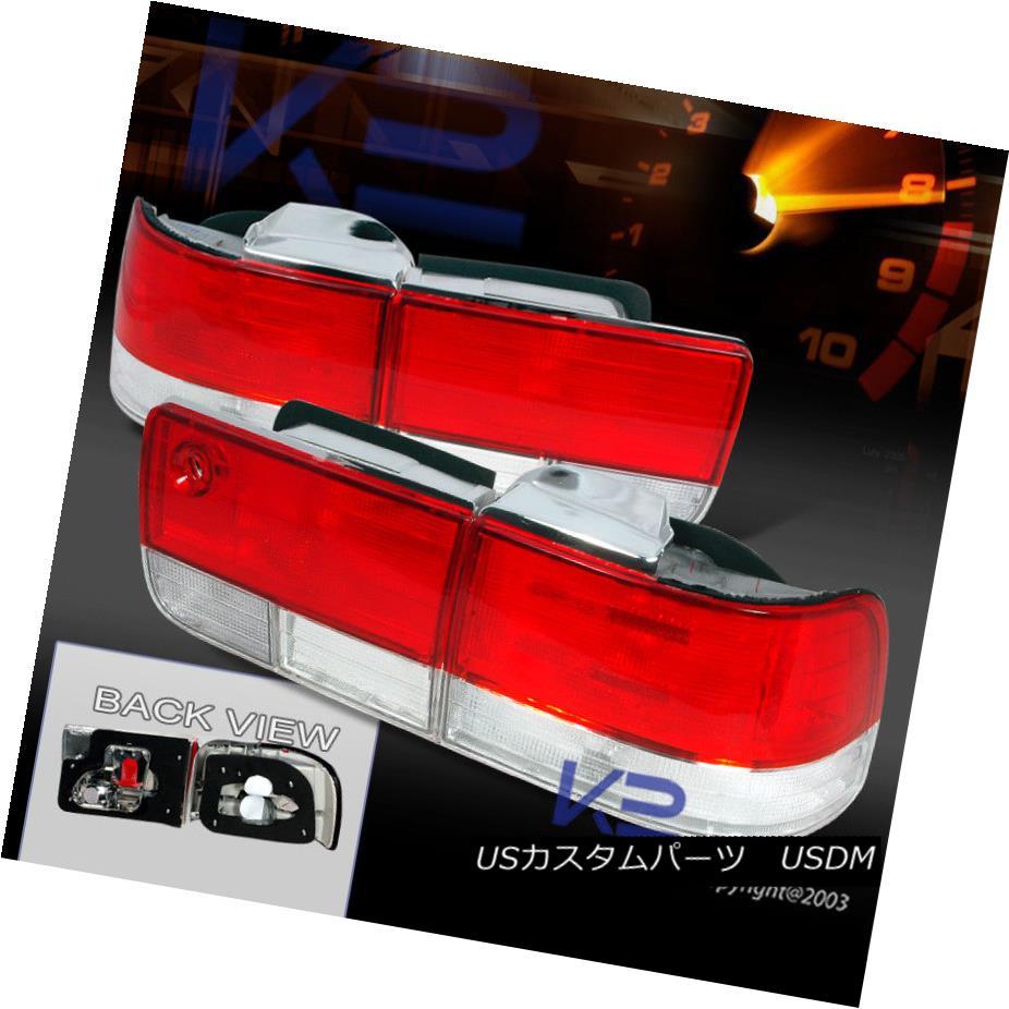 テールライト For 1992-1993 Honda Accord 4Dr Tail Lights Red/Clear Depo 1992-1993 Honda Accord 4Drテールライトレッド/クリアデポ