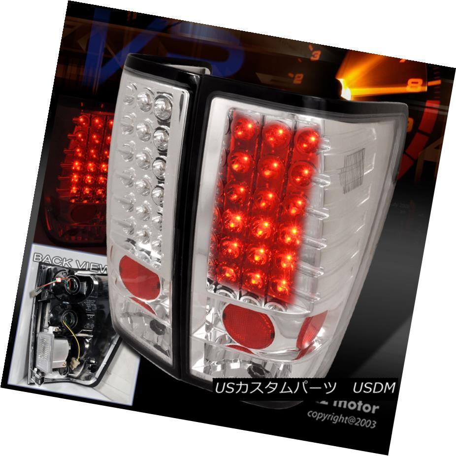 テールライト LED Brake Lamp Tail Lights Chrome For 2004-2013 Nissan Titan 2004年?2013年のLEDブレーキランプテールライトクローム日産タイタン