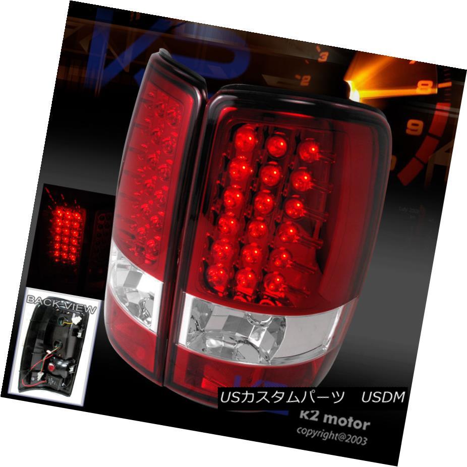 テールライト 2000-2006 GMC Yukon Denali XL Red Lens LED Tail Lights Brake Lamp 2000-2006 GMCユーコンデナリXLレッドレンズLEDテールライトブレーキランプ