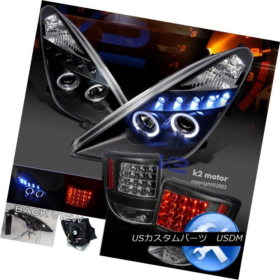 テールライト Black Combo 00-05 Celica Halo Projector Headlights+LED Tail Lights ブラックコンボ00-05 Celica Haloプロジェクターヘッドライト+ LEDテールライト