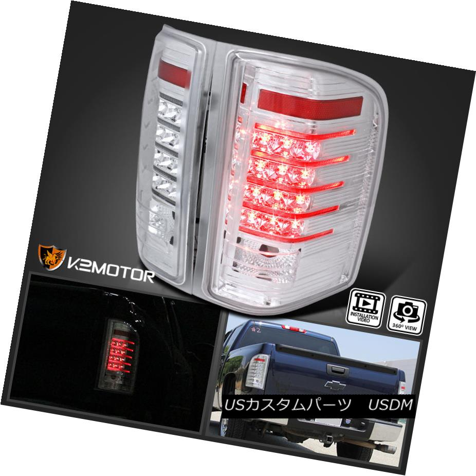テールライト 2007-2014 Chevy Silverado 1500 2500 3500 Truck Chrome LED Tail Lights 2007-2014 Chevy Silverado 1500 2500 3500トラッククロームLEDテールライト
