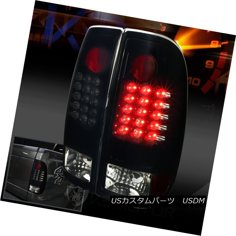 テールライト 08-16 Ford F250 F350 F450 F550 SuperDuty Glossy Black LED Tail Lights Smoke Lens 08-16 Ford F250 F350 F450 F550 SuperDuty GlossyブラックLEDテールライトスモークレンズ