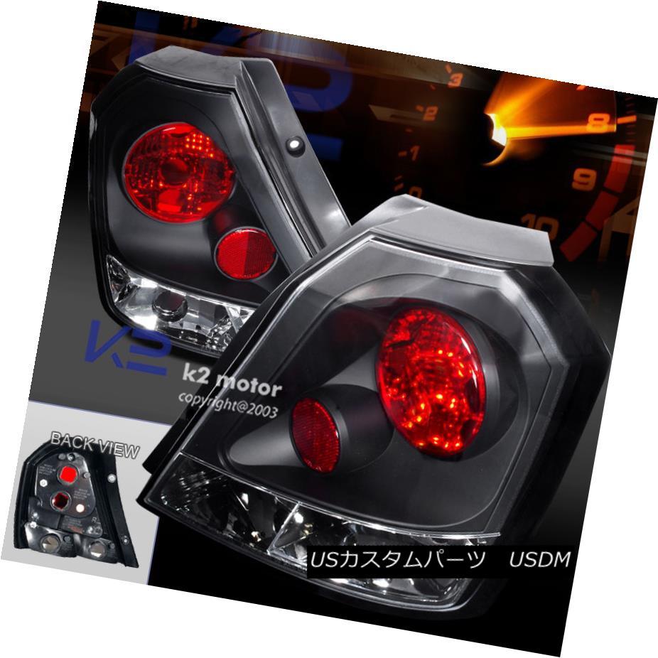 テールライト Euro Black 04-08 Aveo Hb Rear Tail Brake Lights Lamps Replacement Pair ユーロブラック04-08 Aveo Hbリアテールブレーキライトランプ交換用ペア