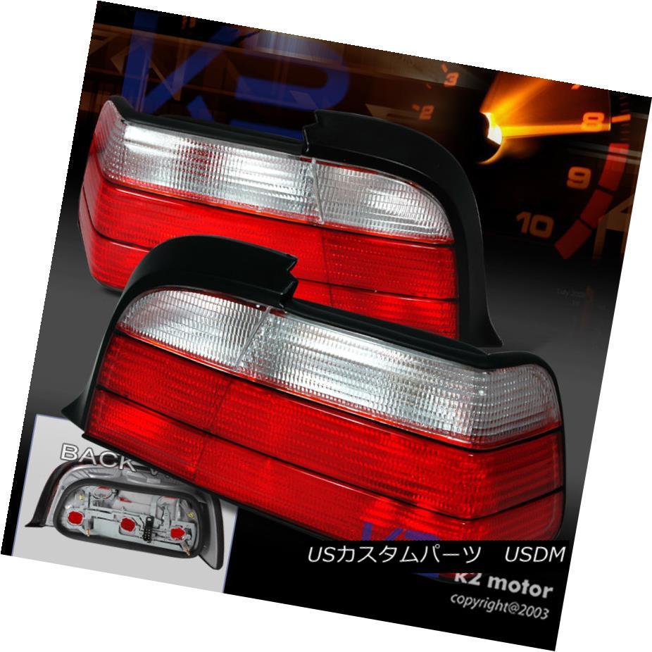 テールライト Depo 92-98 BMW E36 325I 328I M3 2Dr Tail Brake Lights Red/Clear デポ92-98 BMW E36 325I 328I M3 2Drテールブレーキライトレッド/クリア
