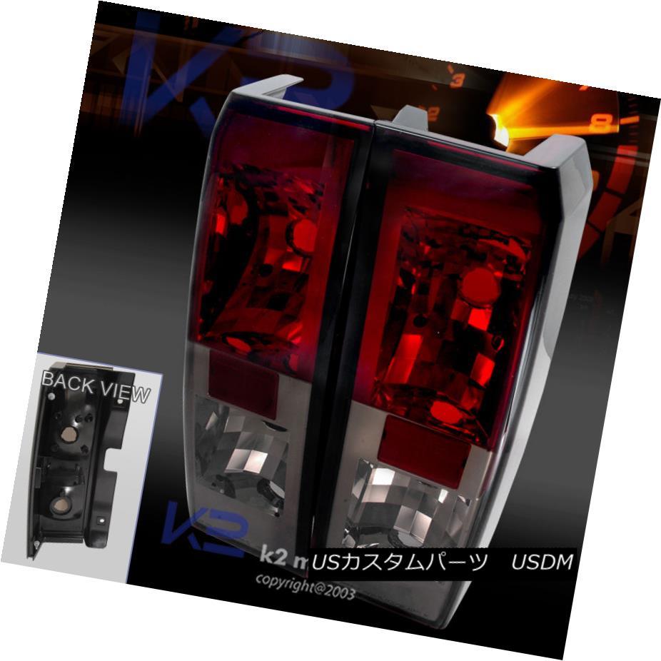 テールライト 05-10 Hummer H3 Red Rear Brake Lamps Smoke Tail Lights Replacement Pair 05-10ハマーH3レッドリアブレーキランプ煙テールライト交換ペア