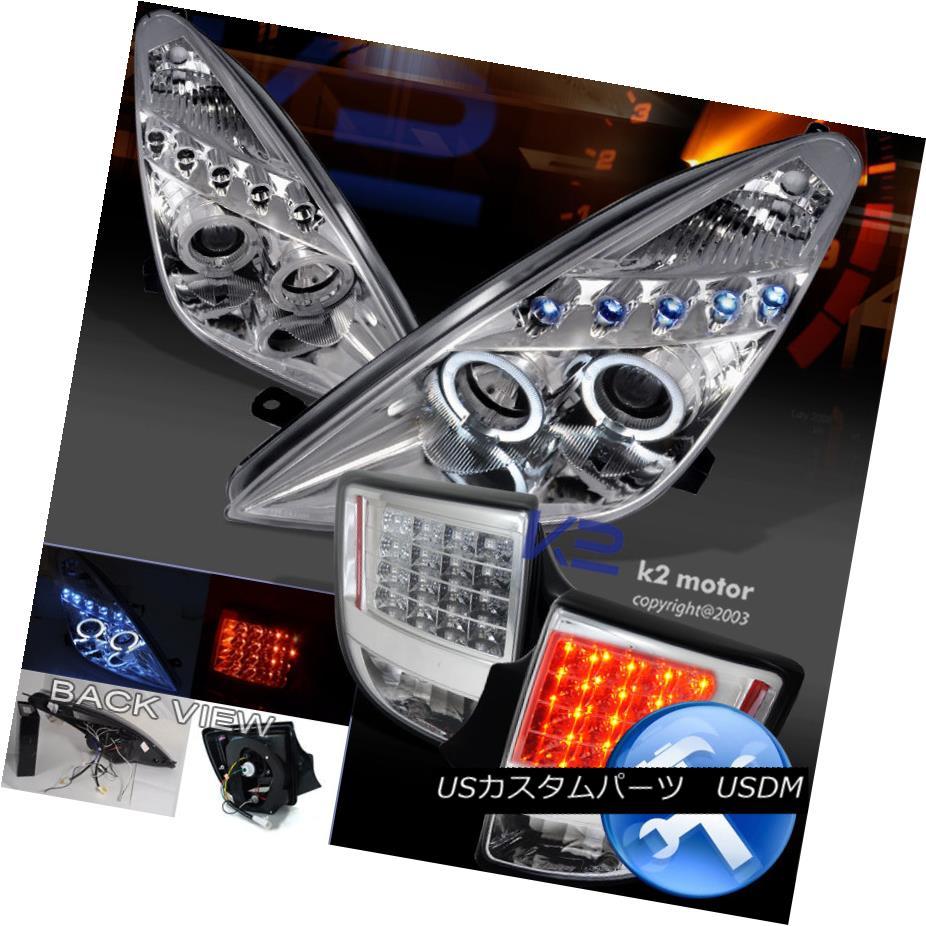 テールライト Chrome Combo 00-05 Celica Halo Projector Headlights+LED Tail Brake Lights Chrome Combo 00-05 Celica Haloプロジェクターヘッドライト+ LEDテールブレーキライト