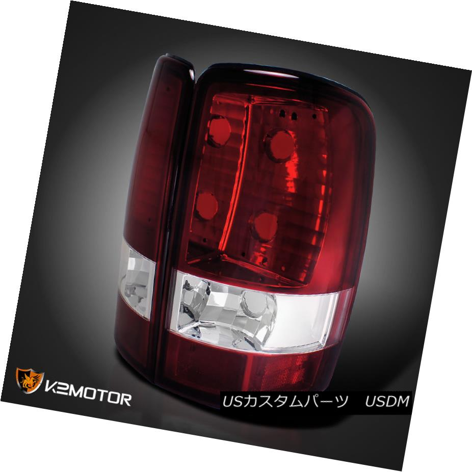 テールライト 00-06 Chevy GMC Suburban Yukon XL Red Clear Tail Lights Rear Lamps 00-06シボレーGMC郊外ユーコンXLレッドクリアテールライトリアランプ