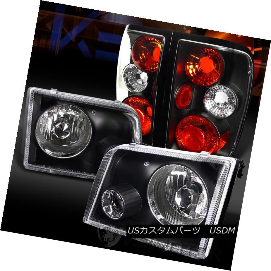 テールライト 93-97 Ford Ranger Black Projector Headlights+Rear Tail Brake Lamps 93-97 Ford Rangerブラックプロジェクターヘッドライト+リア rテールブレーキランプ