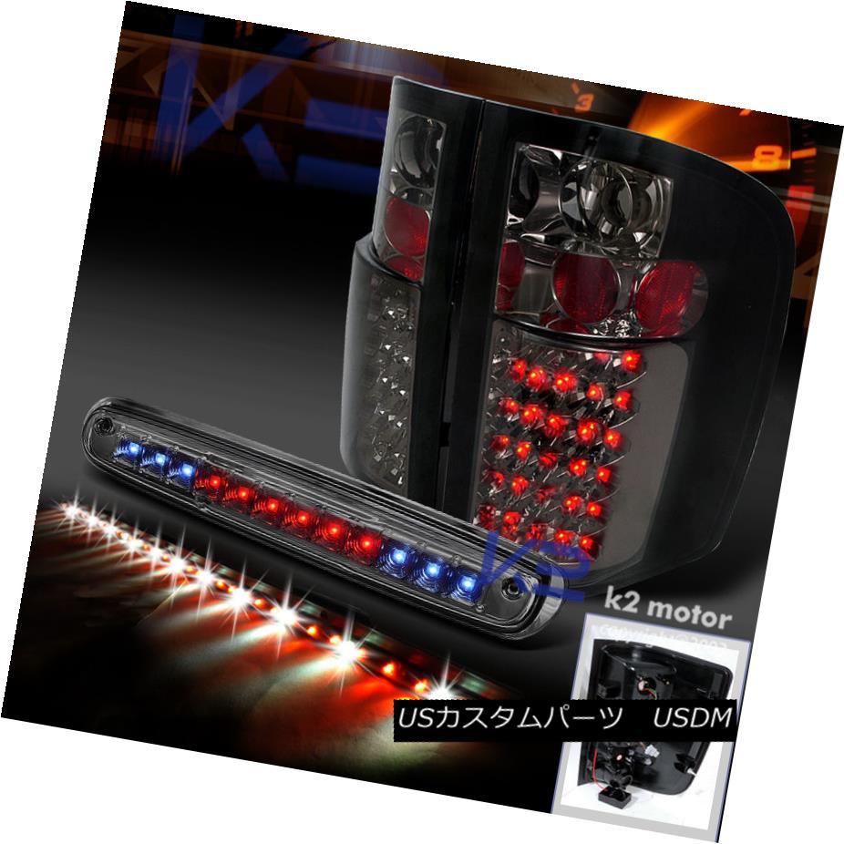 テールライト 2007-2012 CHEVY SILVERADO SMOKE LED TAIL LIGHTS+3RD BRAKE+60