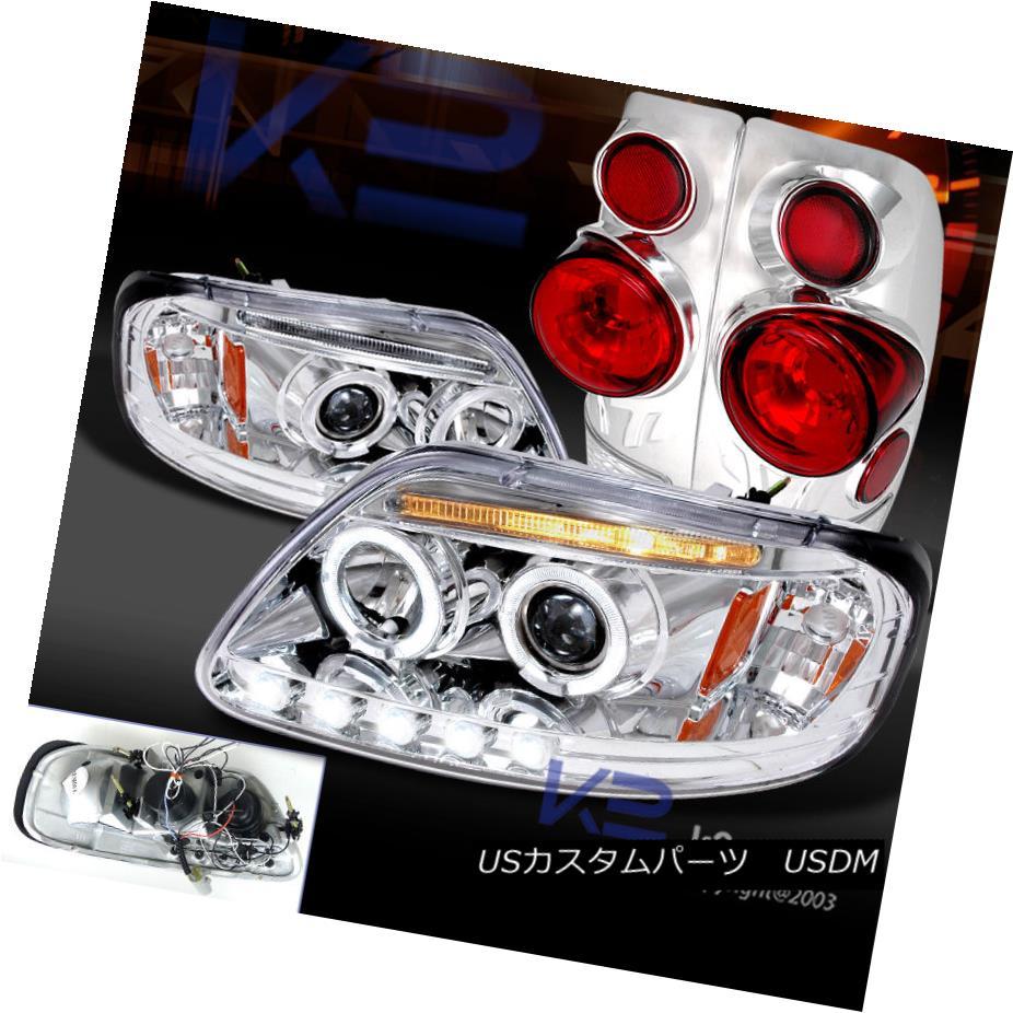 テールライト 1997-2003 F150 LED DRL LED Halo Headlights Projector 1997-2003 Headlights Chrome+ 3D Retro Tail Lamp 1997-2003 F150 LED DRLハロープロジェクターヘッドライトクローム+ 3Dレトロテールランプ, natural sunny:10b76d39 --- officewill.xsrv.jp