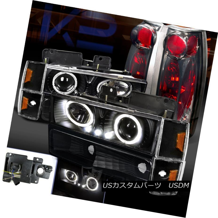テールライト Chevy/GMC CK Pickup Black Halo Projector Headlight+Corner Bumper+Smoke Tail Lamp Chevy / GMC CKピックアップブラックハロープロジェクターヘッドライト+トウモロコシ erバンパー+煙テールランプ
