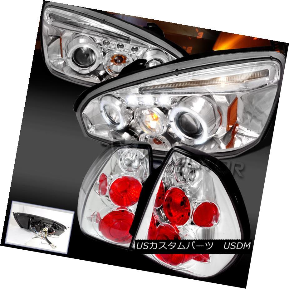 テールライト 2004-2007 Malibu LT/LS Chrome/Clear Dual Halo Projector Headlight+Rear Tail Lamp 2004-2007 Malibu LT / LS Chrome /クリアデュアルハロープロジェクターヘッドライト+リアテールランプ