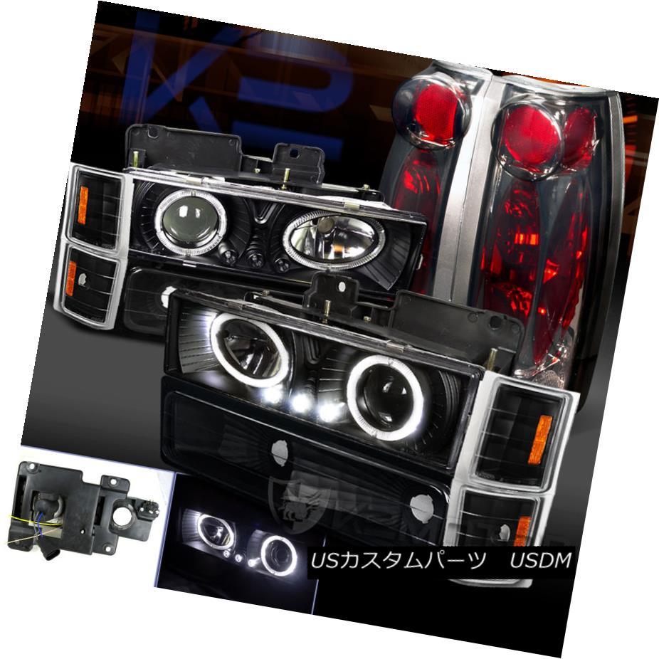 テールライト Chevy Tahoe CK Black Halo LED Projector Headlight+Bumper Corner+Smoke Tail Light Chevy Tahoe CK Black Halo LEDプロジェクターヘッドライト+バンプ erコーナー+スモークテールライト