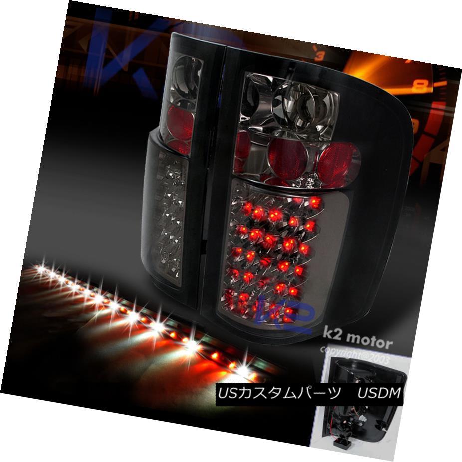 テールライト 2007-2014 CHEVY SILVERADO SMOKE LED TAIL LIGHTS+60
