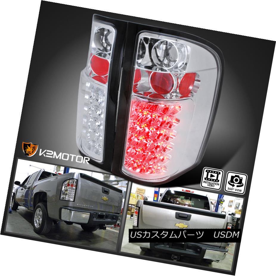 テールライト 2007-2014 Chevy Silverado 1500 2500HD 3500HD LED Tail Lights Lamps Left+Right 2007-2014シボレーシルバラード1500 2500HD 3500HD LEDテールライトランプ左+右