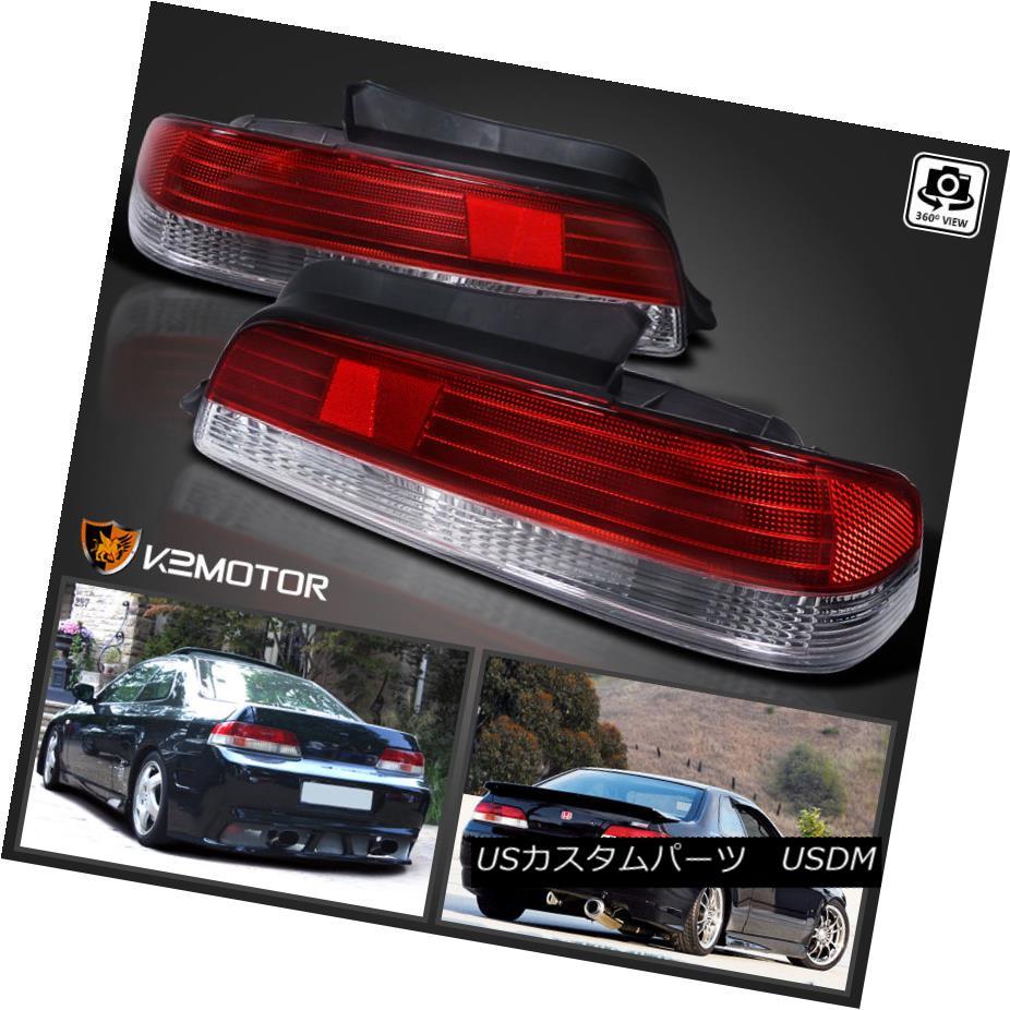 テールライト For 1997-2001 Honda Prelude Red/Clear JDM Tail Lights Lamps 1997?2001年ホンダプレリュードレッド/クリアJDMテールライトランプ