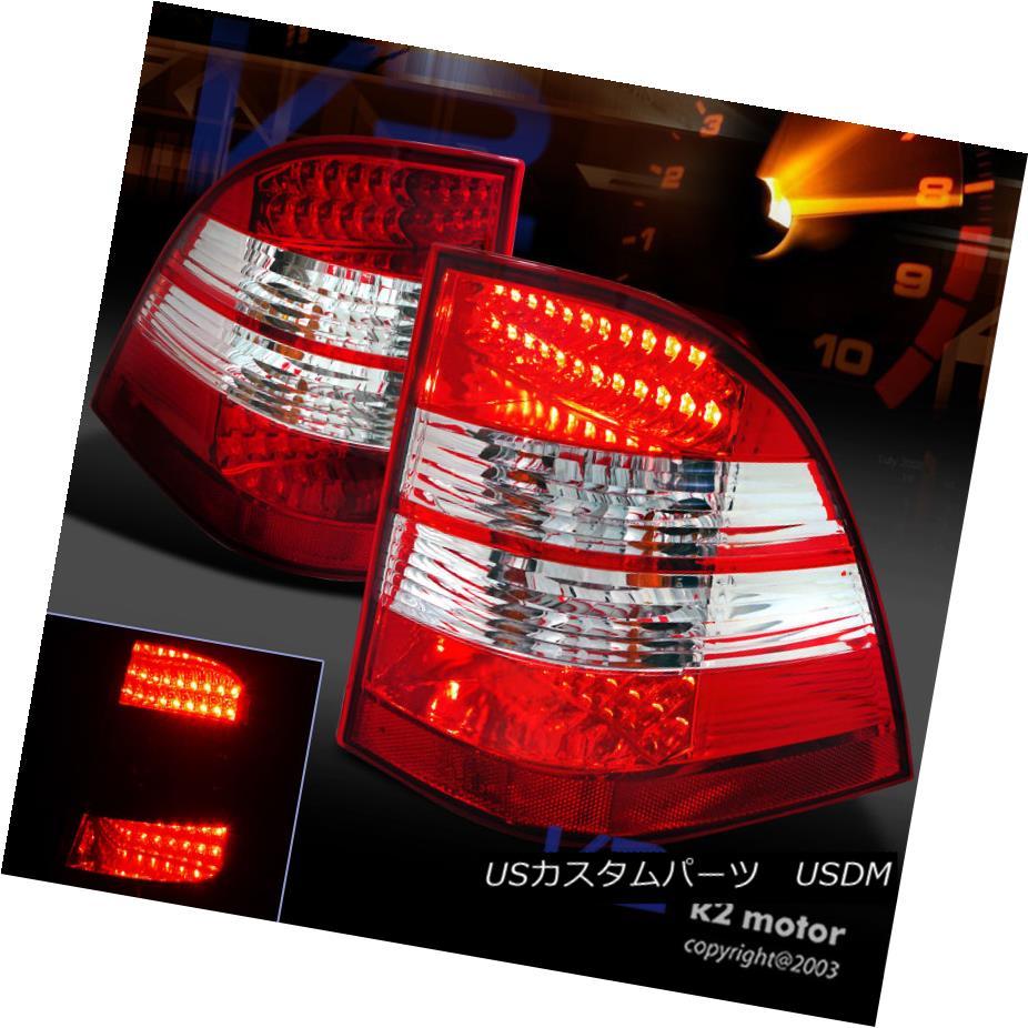 テールライト 1998-2005 Mercedes W163 ML-Class ML320 ML430 Red Clear LED Rear Tail Lights 1998-2005 Mercedes W163 MLクラスML320 ML430レッドクリアLEDリアテールライト
