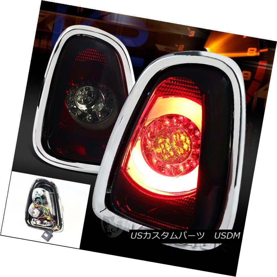 テールライト 2011-2014 Mini Cooper Base S Red Smoke LED Rear Tail Brake Signal Lights 2011-2014ミニクーパーベースS赤い煙LED後部テールブレーキ信号灯