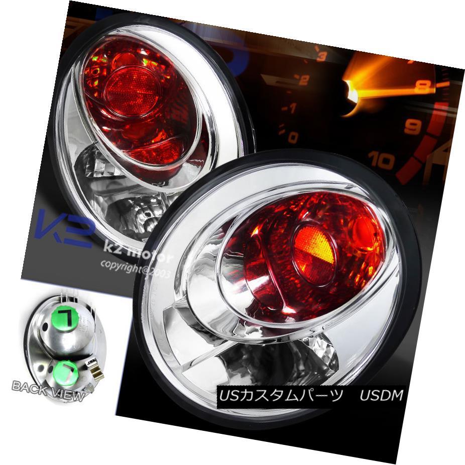 テールライト For VW 98-05 Beetle Clear Rear Tail Lights Brake Lamps Replacement LH RH VW 98-05ビートルクリアリアテールライトブレーキランプ交換LH RH