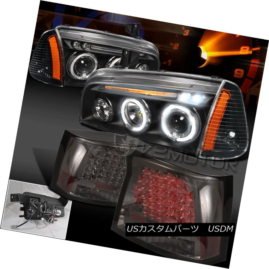 テールライト 06-08 Charger Halo Projector Headlight Black+Corner Lamp+LED Smoke Tail Lamp 06-08 Charger Haloプロジェクターヘッドライトブラック+コーナーランプ+ LEDスモークテールランプ