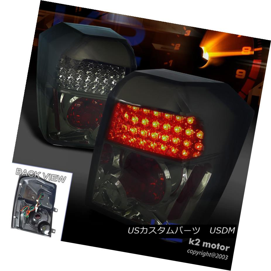 テールライト 2007-2012 Dodge Caliber SE SXT R/T Smoke LED Tail Lights Lamps Left+Right 2007-2012ダッジキャリバーSE SXT R / TスモークLEDテールライトランプ左+右