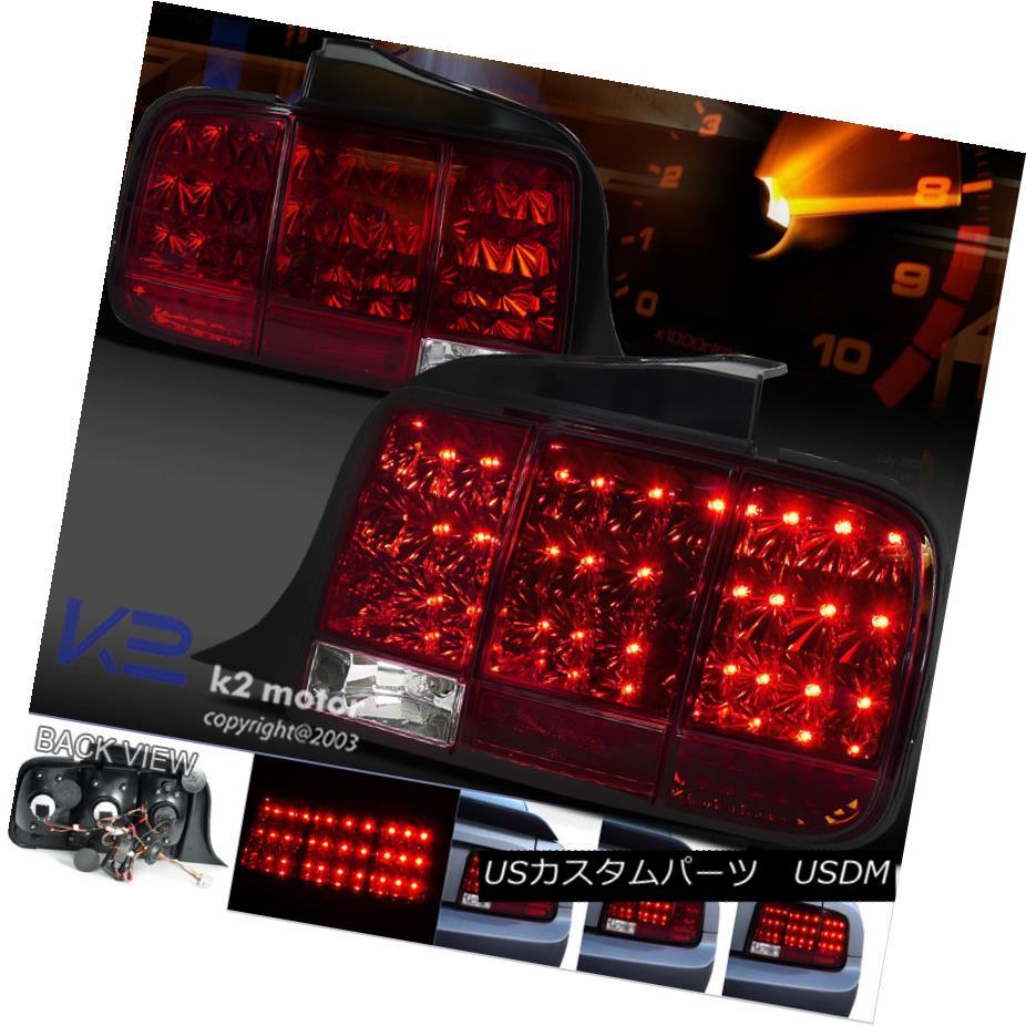 テールライト 2005-2009 Mustang LED Sequential Turn Signal Tail Light Brake Lamp Red 2005-2009 Mustang LEDシーケンシャルターンシグナルテールライトブレーキランプレッド
