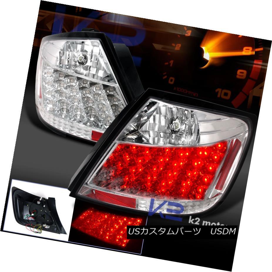 テールライト 04-10 Scion tC Crystal Chrome Clear LED Rear Tail Brake Lights 2PC 04-10サイオンtcクリスタルクロームクリアLEDリアテールブレーキライト2PC
