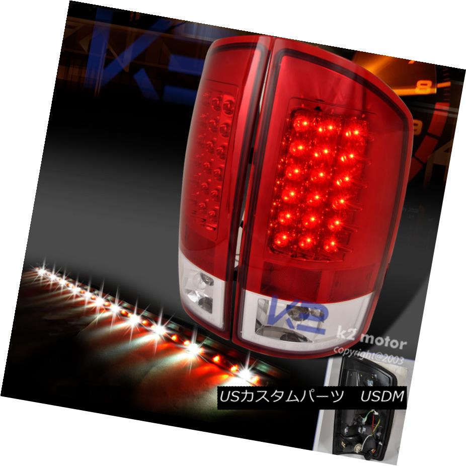テールライト 2002-2006 DODGE RAM RED CLEAR LED TAIL LIGHTS+60