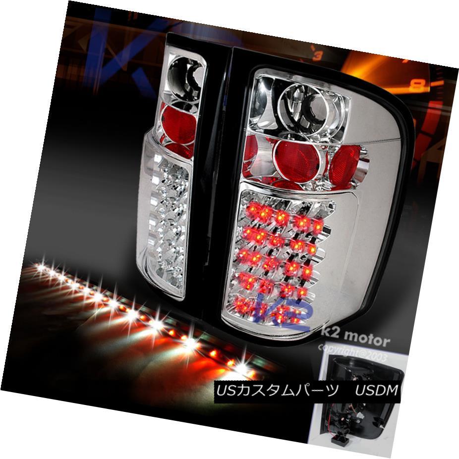 テールライト 2007-2014 CHEVY SILVERADO CHROME LED TAIL LIGHTS+60