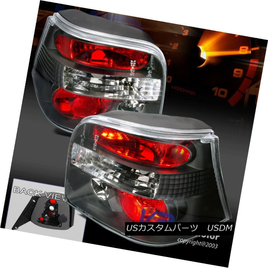 テールライト Fits 1999-2006 VW Golf IV MK4 Euro Black Tail Stop Lights Pair フィット1999-2006 VWゴルフIV MK4ユーロブラックテールストップライトペア